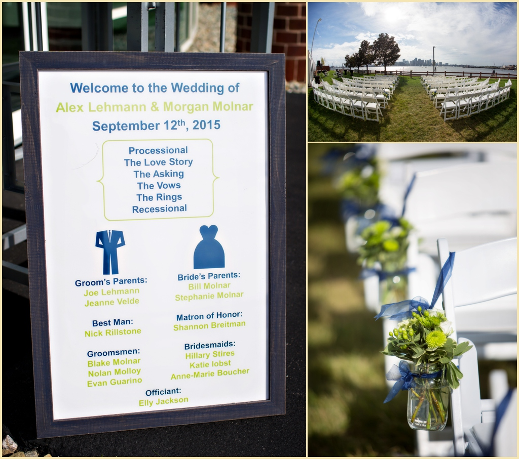 Oceanside Boston Wedding Decor