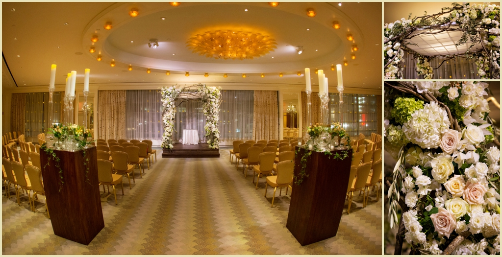 Floral Chuppah at the Four Seasons Hotel Boston