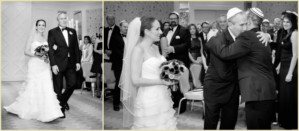 Black and white Boston Four Seasons Ceremony Photography