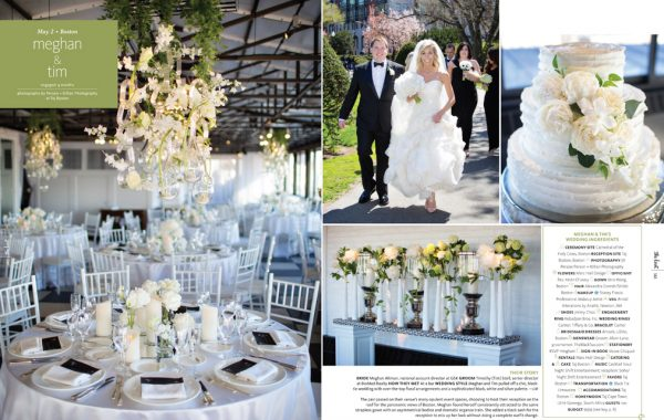 The Knot New England Real Wedding Feature at Taj Boston