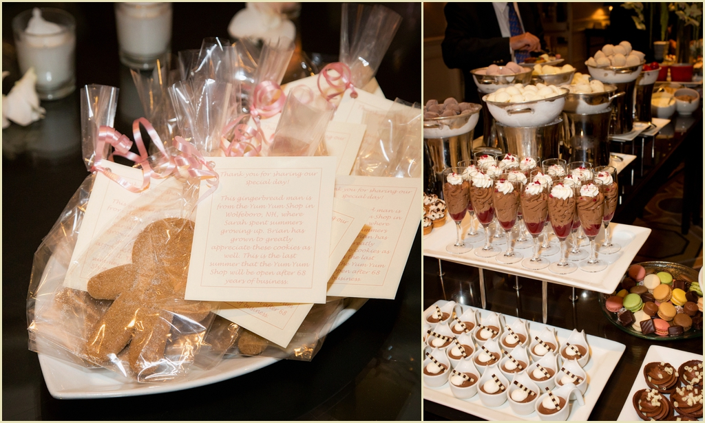 gingerbread favors at four seasons boston wedding