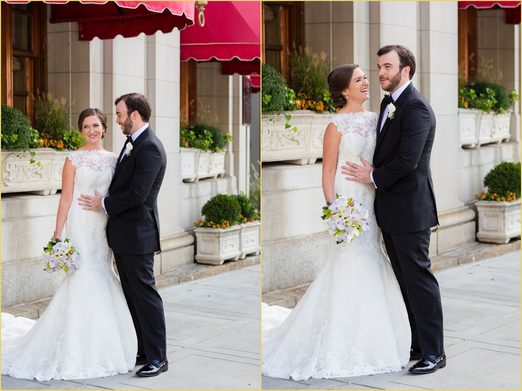 Boston Ourdoor Portraits Copley Square Bride and Groom with Rafanelli Events
