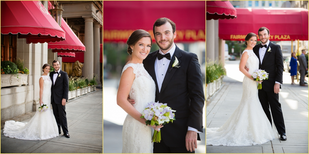 Lauren John First Look Wedding Portraits Fairmont Copley Plaza Boston with Rafanelli Events