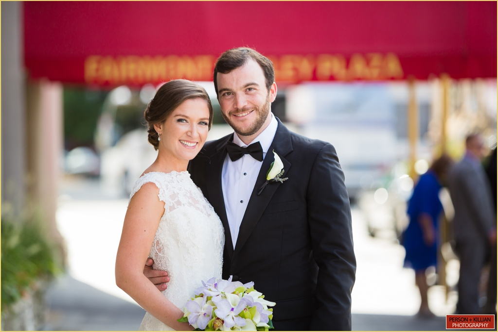 Boston Outdoor Wedding Portaits at the Fairmont Copley Plaza
