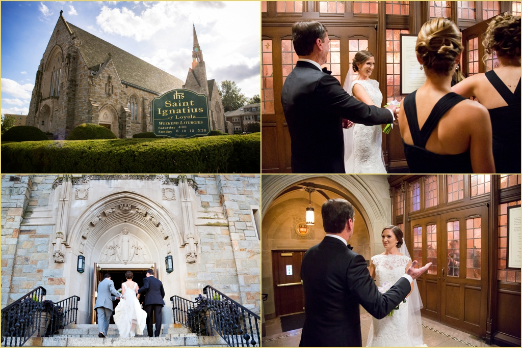 St Ignatius Wedding Ceremony Boston College With Rafanelli Events
