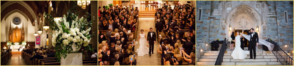 Catholic Wedding Ceremony Boston College Person Killian Photography Winston Flowers Rafanelli Events