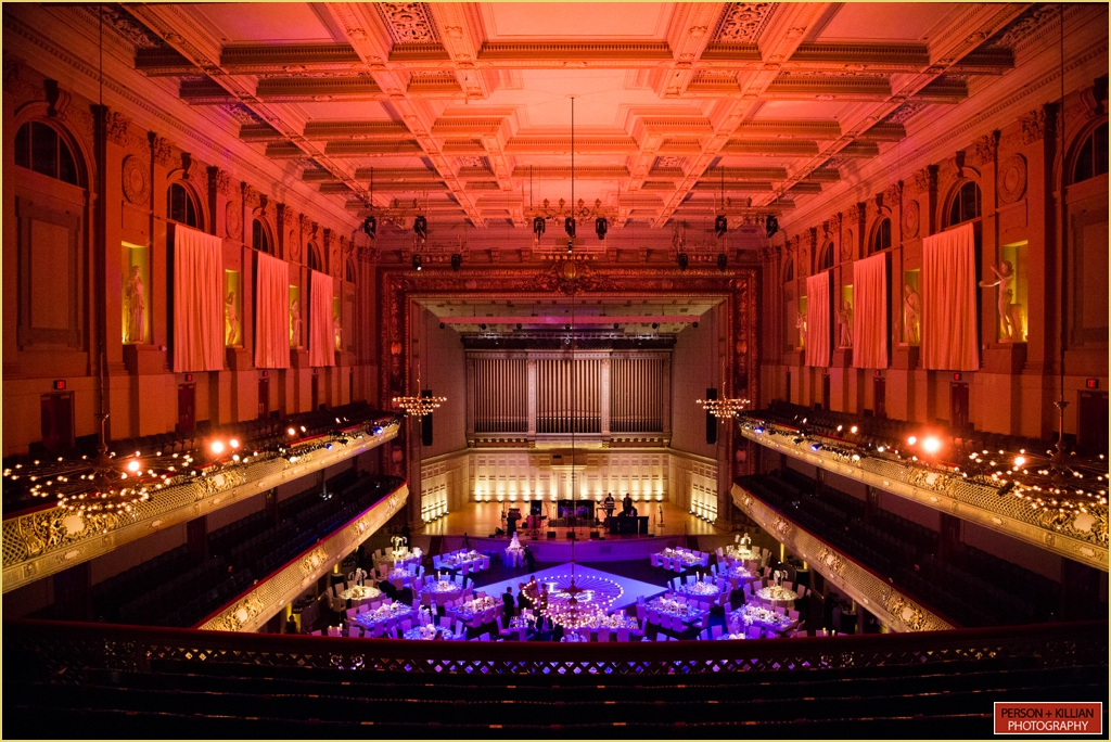 boston symphony orchestra Wedding with Rafanelli Events Wedding Decor and Lighting