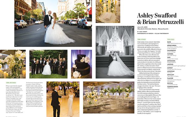 Boston Weddings Magazine - Real Wedding of Ashley + Brian at the Mandarin Oriental