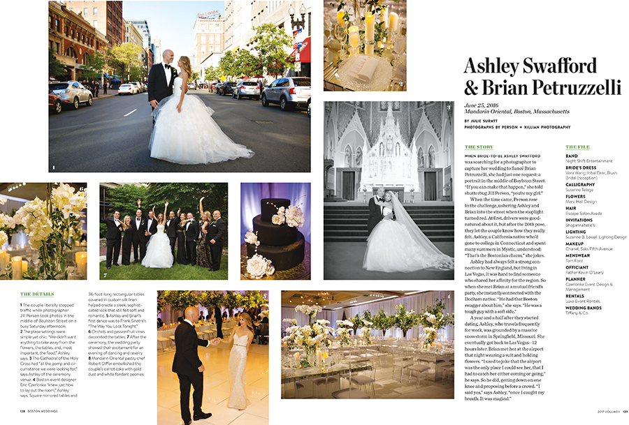 Real Weddings Boston: Mandarin Oriental Wedding