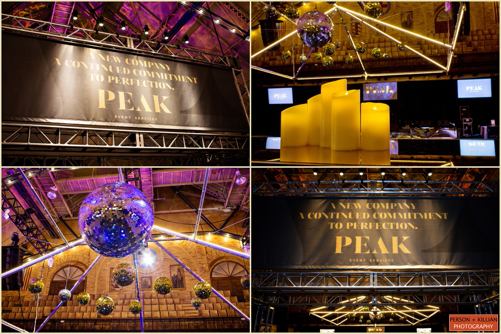 Boston Event Photographers PEAK Event Services Launch Party Celebration Decor