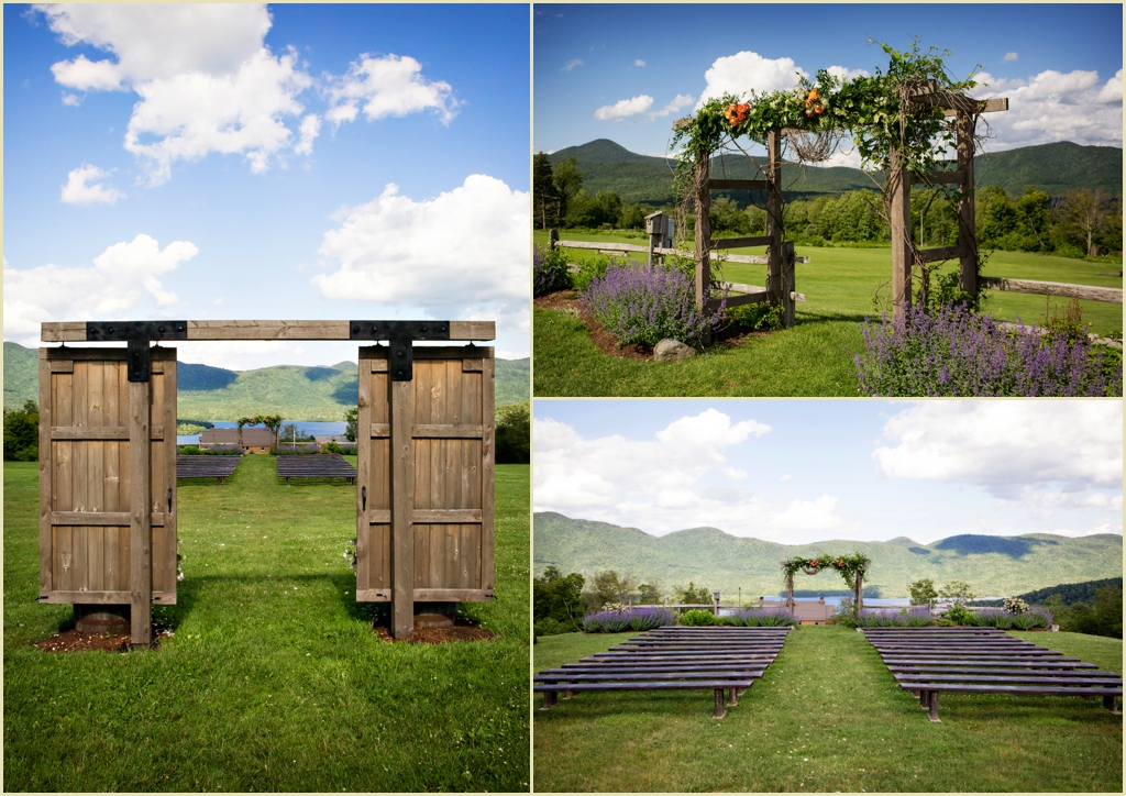 Destination Wedding in Vermont - Mountain Top Inn - Outdoor Ceremony