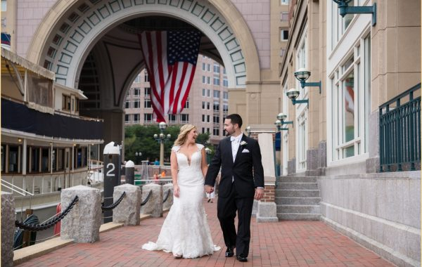 A beautiful and classic Summer Boston Harbor Hotel wedding