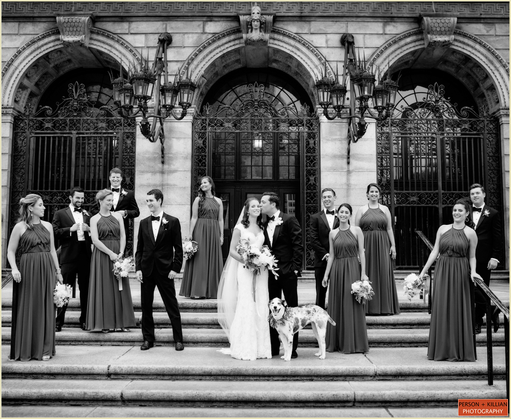 Boston Public Library Summer Wedding