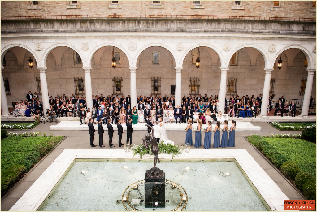 Boston Public Library Courtyard Wedding Ceremony