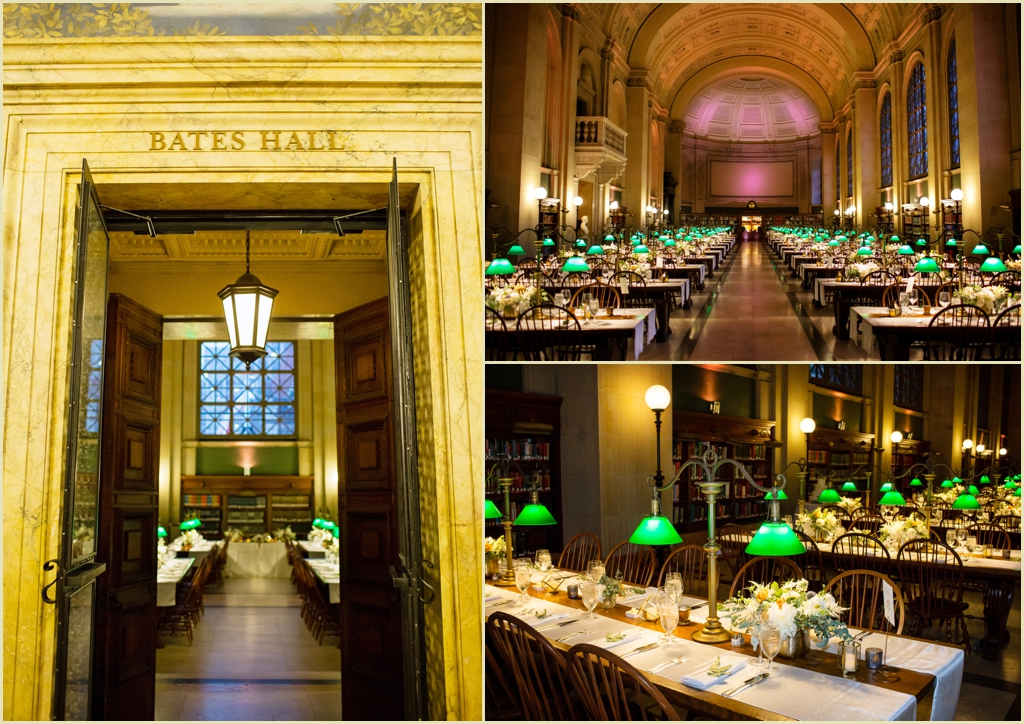 Boston Public Library Bates Hall Wedding