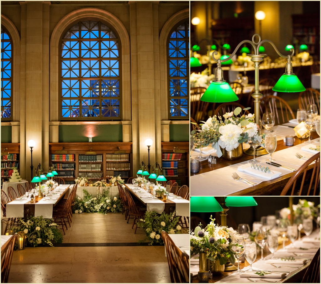 Bates Hall Wedding Reception Boston Public Library