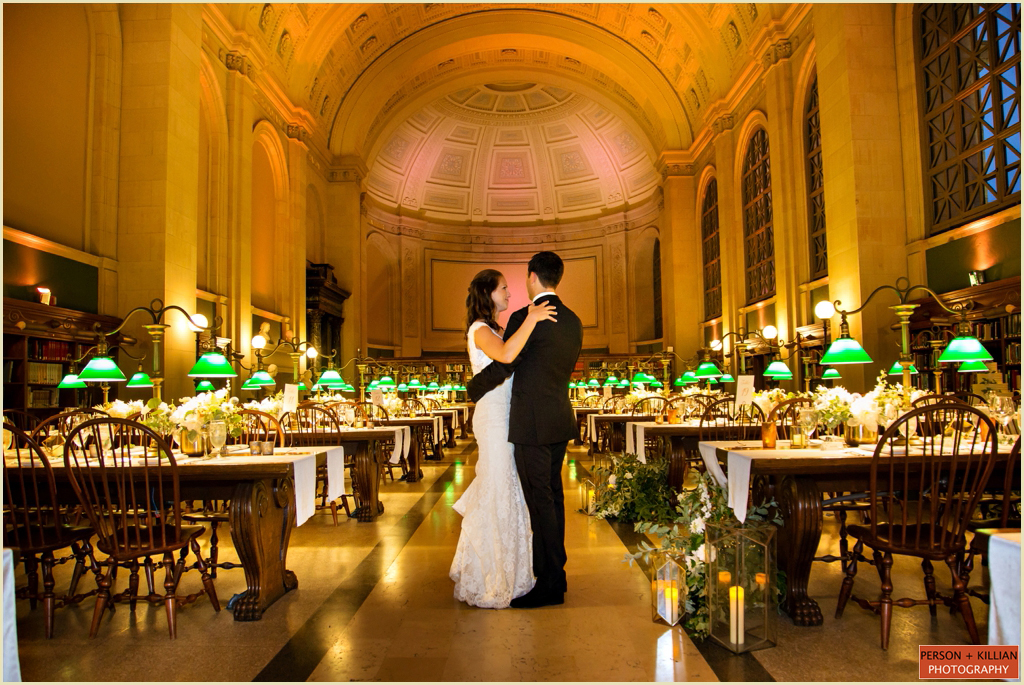 Boston Public Library Wedding Bates Hall
