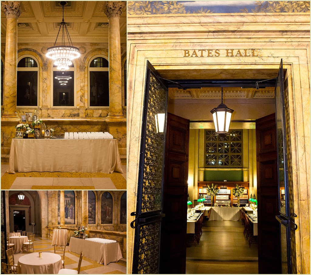Boston Public Library Wedding Reception