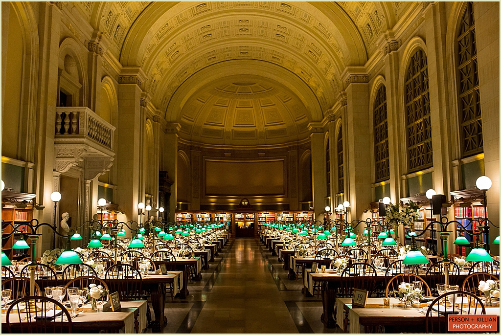 Bates Hall Wedding Boston Public Library