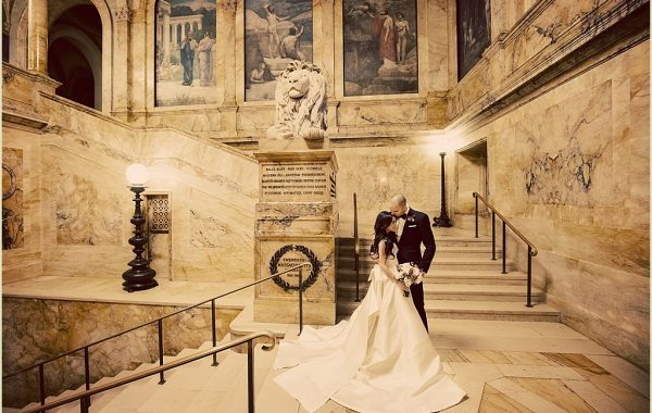 Boston Public Library Wedding with Marc Hall Design