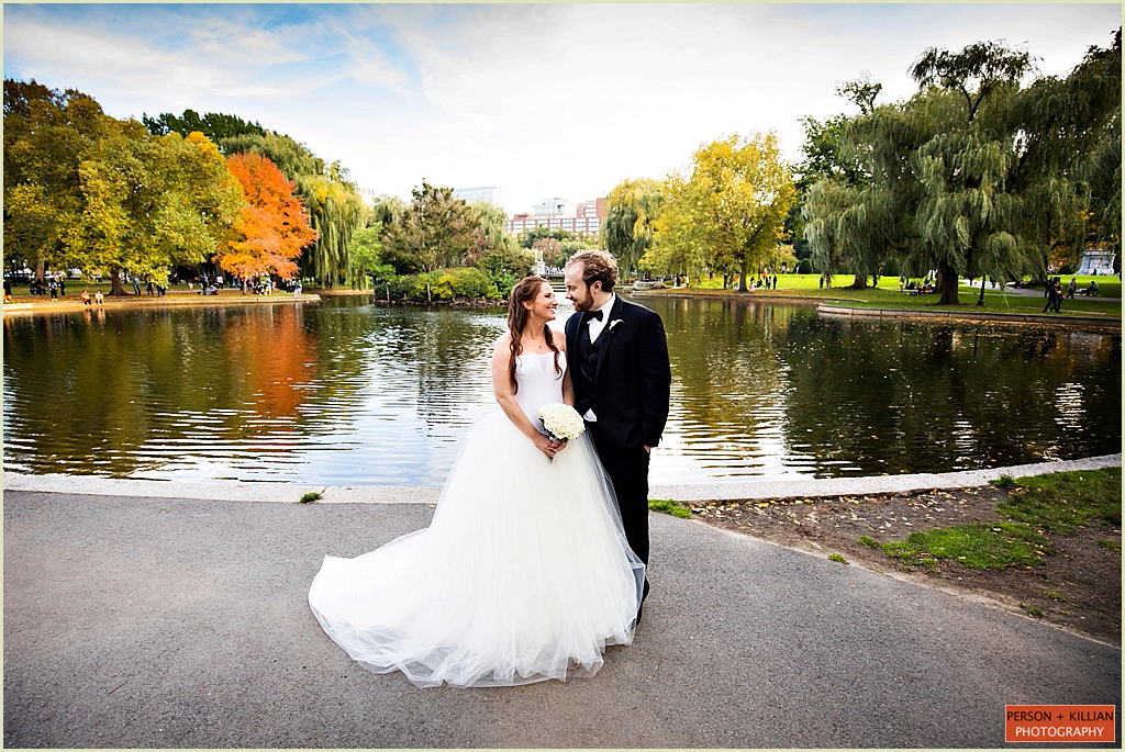 Fall Wedding Boston Public Garden