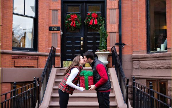 Back Bay Boston engagement session photographed on Newbury St.