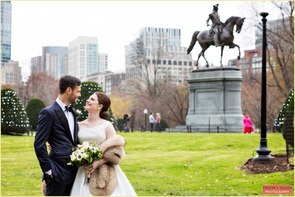 Boston Public Garden Winter Wedding