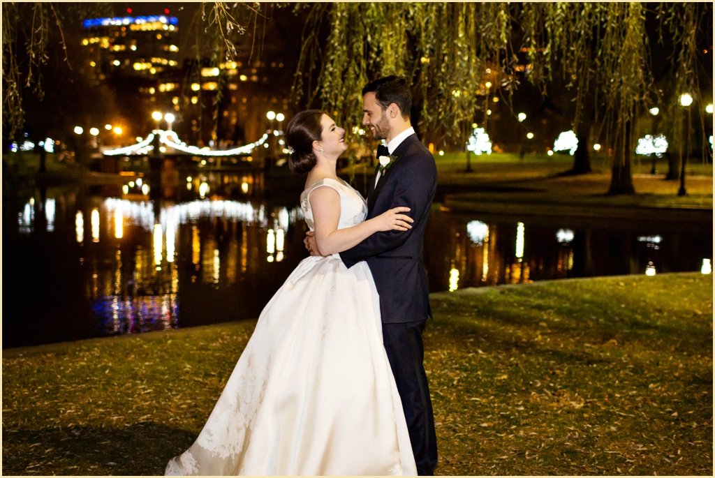 Classic Winter Wedding Boston Public Garden