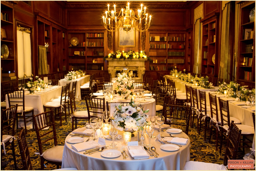 Classic Winter Wedding Hampshire House Boston