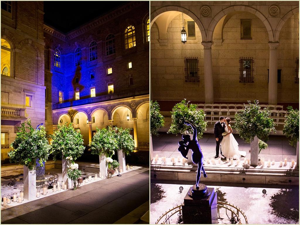Boston Public Library Courtyard Wedding Ceremony