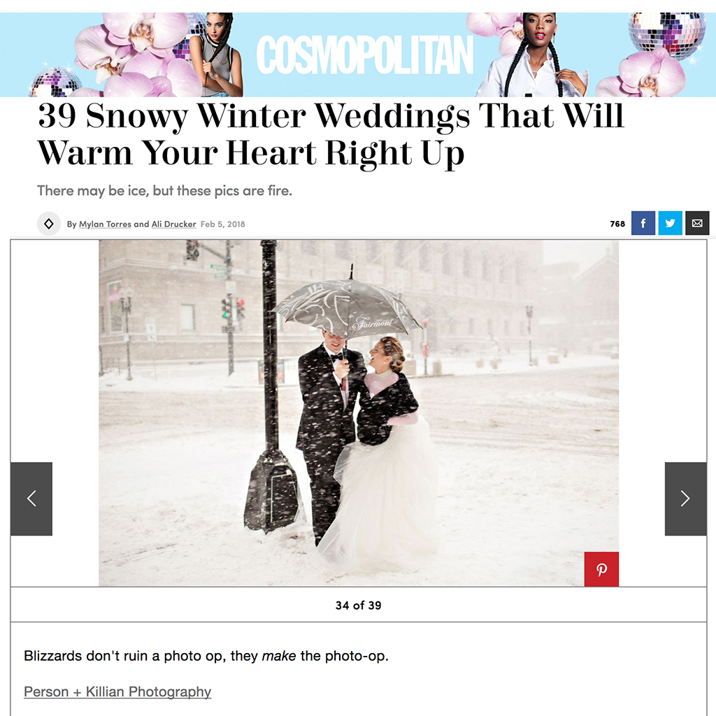 Cosmopolitan Magazine Real Wedding Photography Boston
