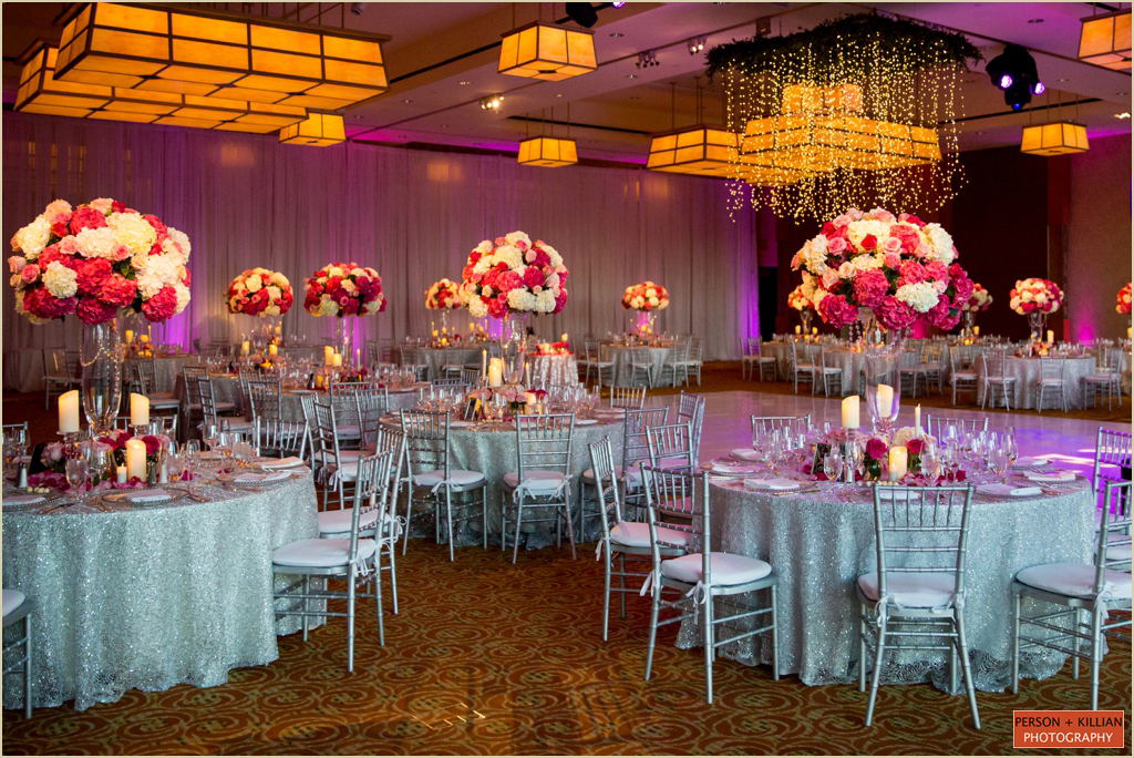 Pink and White Wedding InterContinental Boston