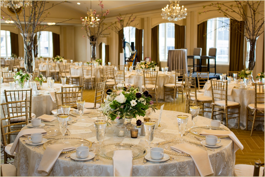Omni Parker House Boston Bridal Brunch and Fashion Show Winston Flowers Peak Wedding Decor