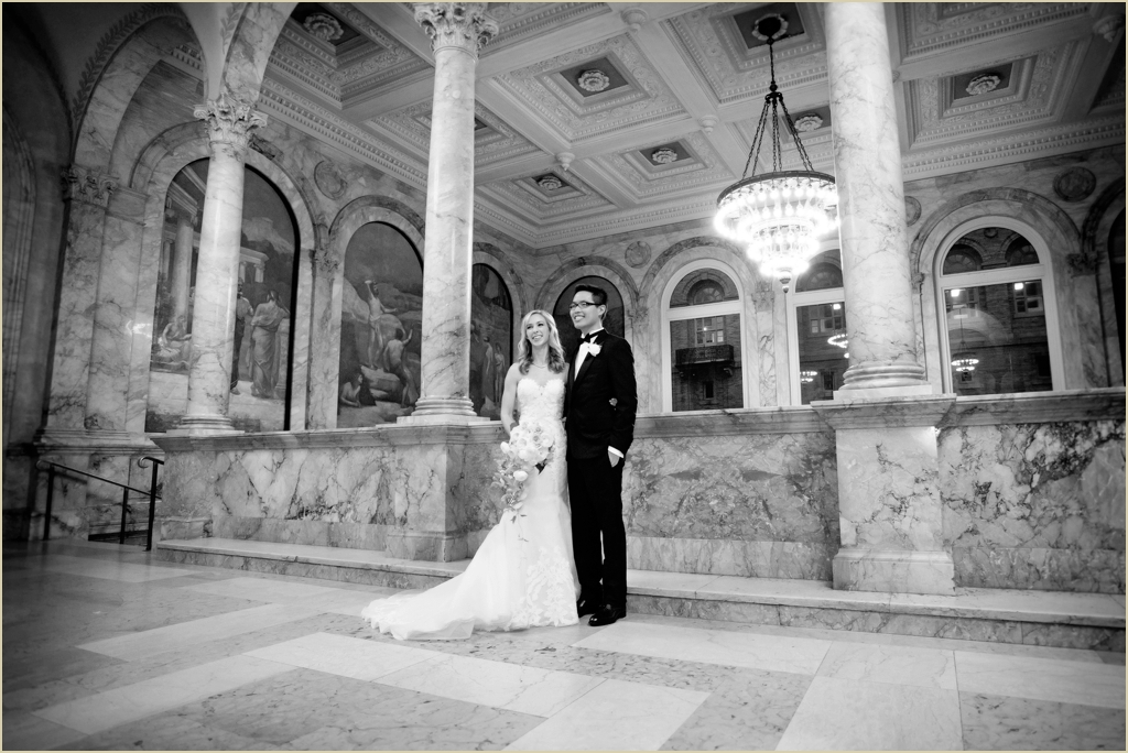 Boston Public Library Modern Wedding