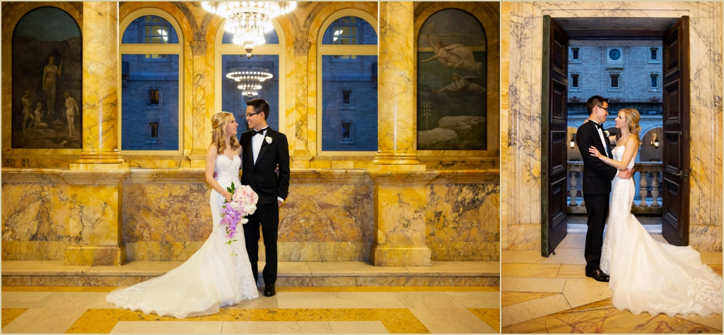 Boston Public Library Formal Wedding Photos