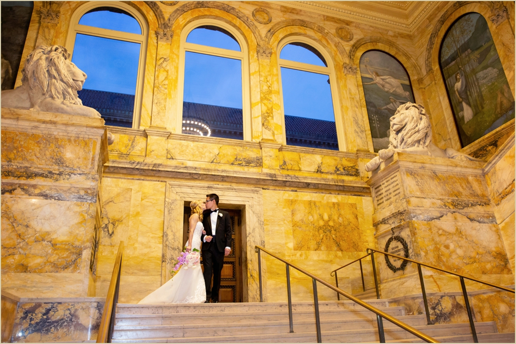 Boston Public Library Grand Staircase Wedding