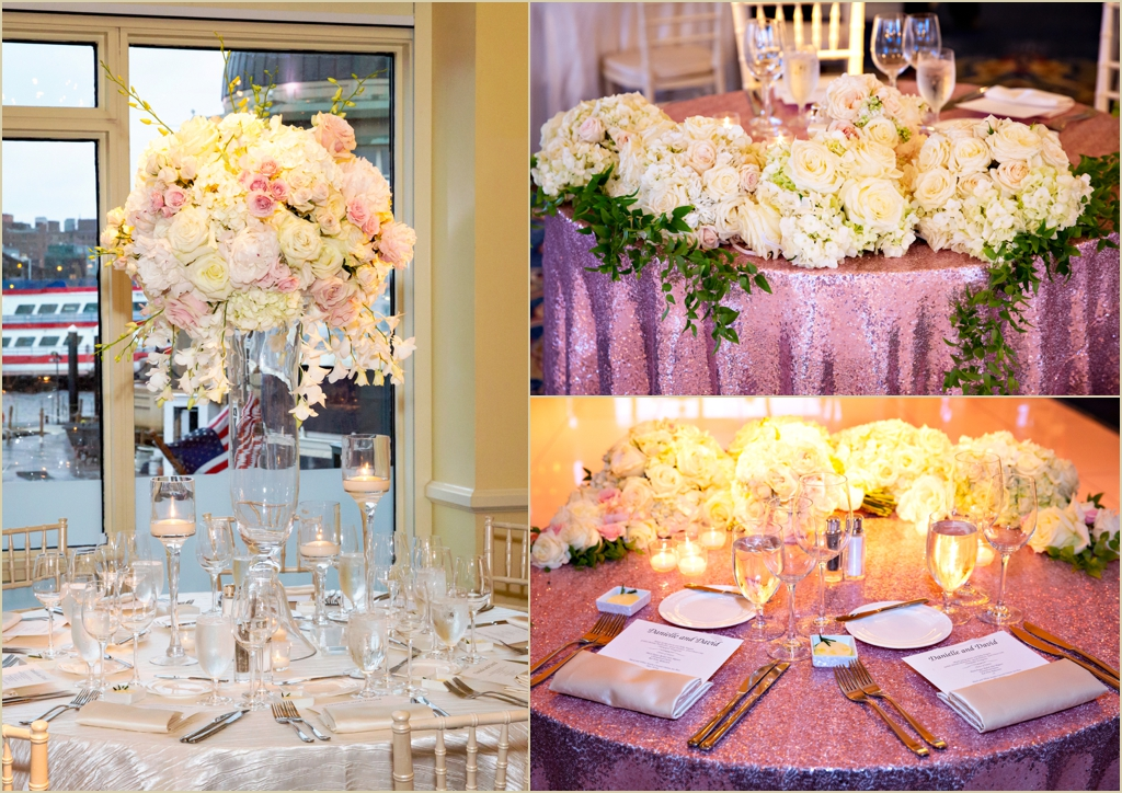 White and Pink Spring Wedding Boston