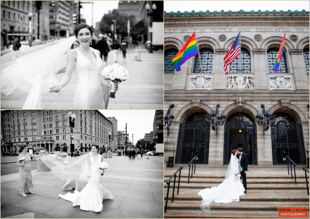 Copley Square Wedding Photography Boston Public Library