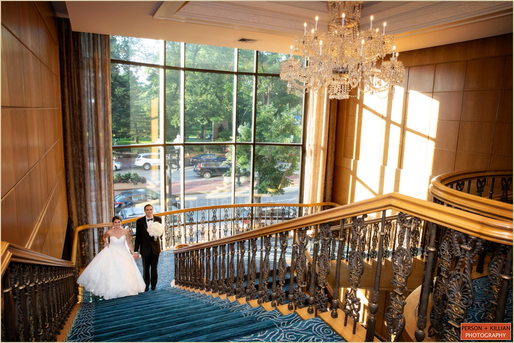 Four Seasons Boston Grand Staircase Wedding
