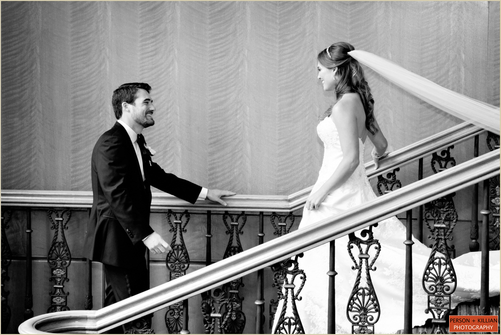 Four Seasons Boston Wedding Grand Staircase