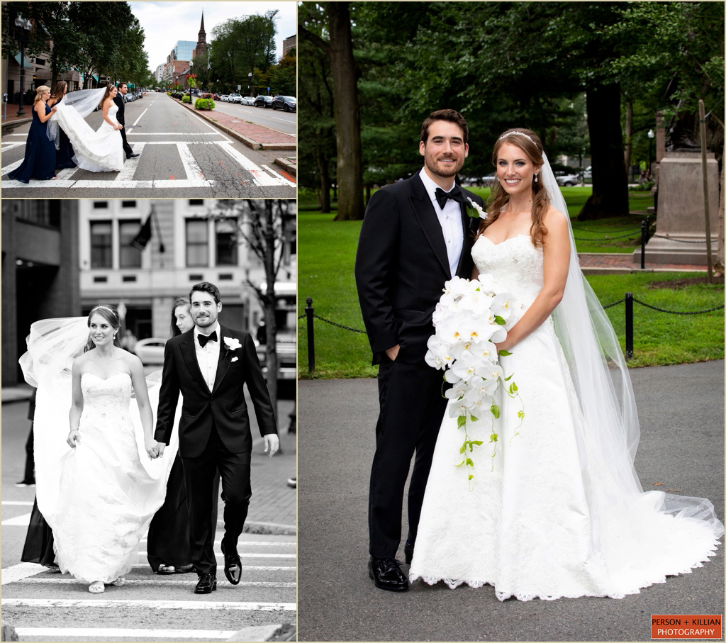 Downtown Boston Wedding Public Garden