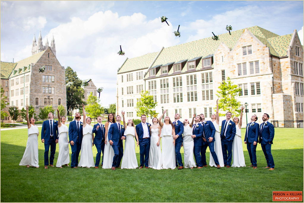 Boston College Campus Wedding Photography