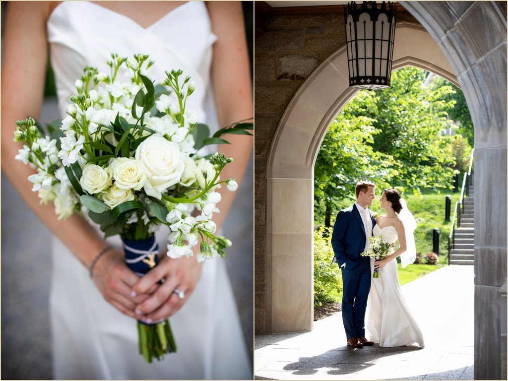 Boston College Campus Wedding Photos