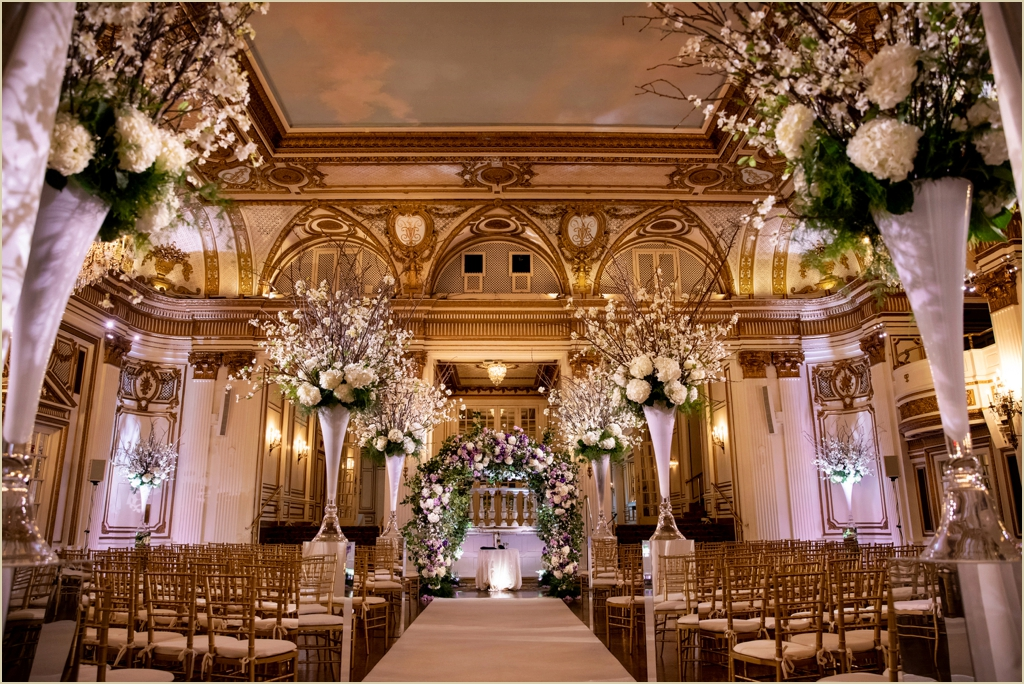 Fairmont Copley Plaza Boston Grand Ballroom Wedding Ceremony