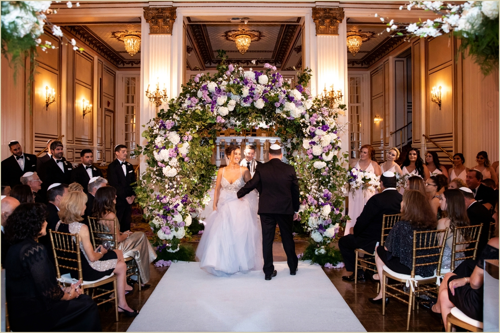 Jewish Wedding Ceremony Fairmont Copley Plaza Boston
