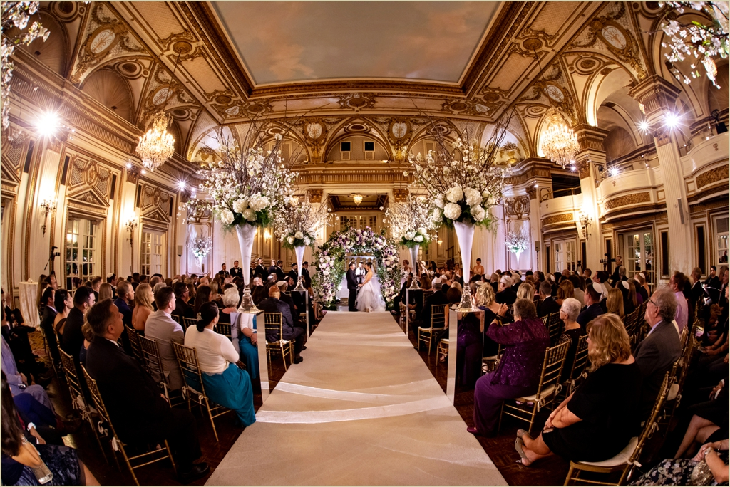 Ballroom Wedding Ceremony Fairmont Copley Plaza Boston