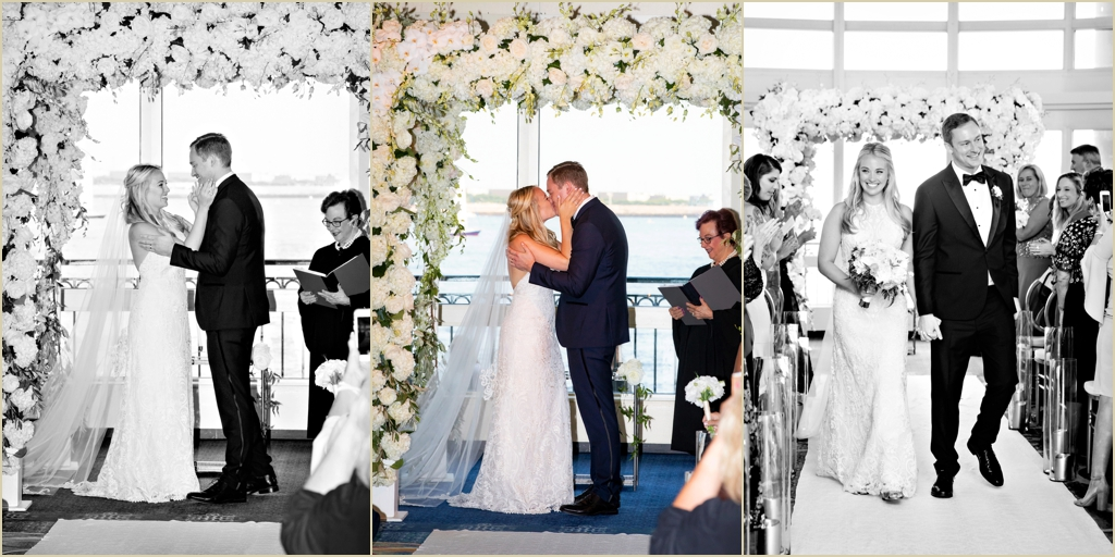 Waterfront Wedding Ceremony Boston Harbor Hotel