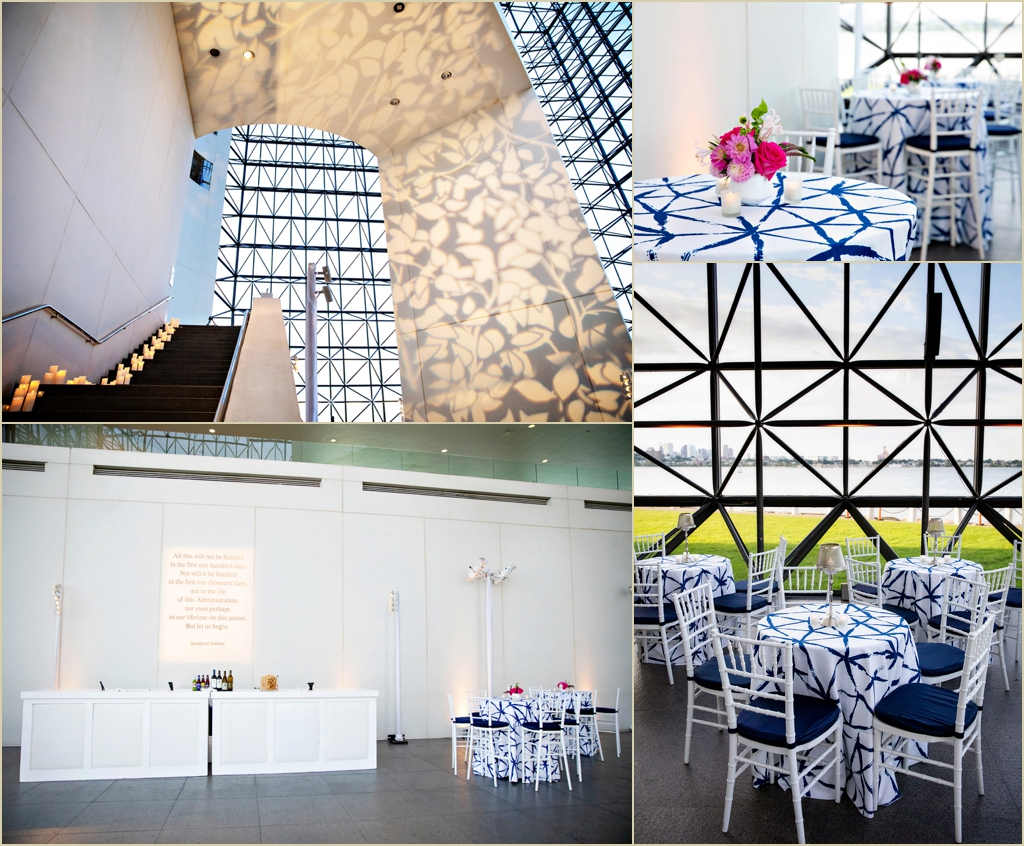 JFK Presidential Library Museum Pavilion Wedding