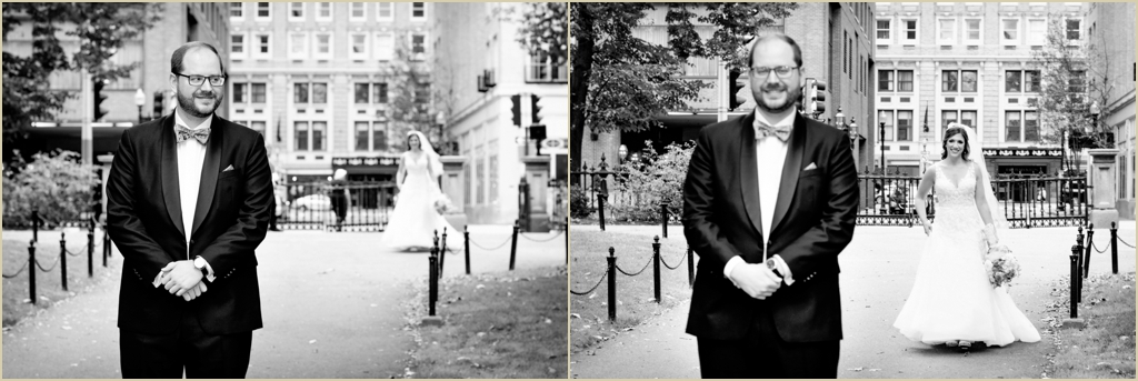 Boston Public Garden Wedding First Look