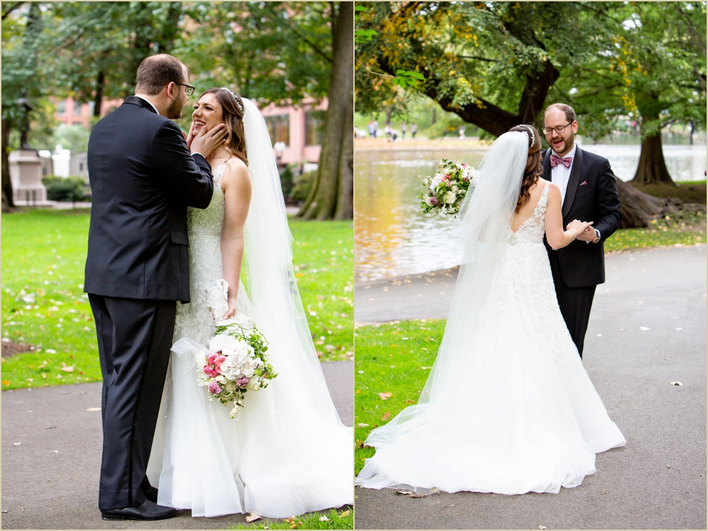 Boston Public Garden Fall Wedding